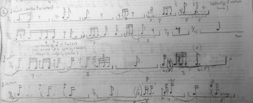 Rhythmic sketch line 6